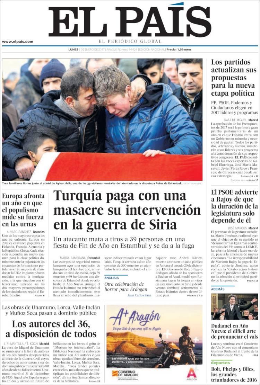 Peri dico el pa s espa a peri dicos de espa a toda la prensa de hoy - Puerta de madrid periodico ...