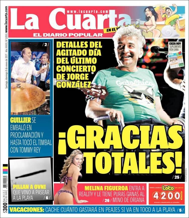 Periódico La Cuarta (Chile). Periódicos de Chile. Edición de ...