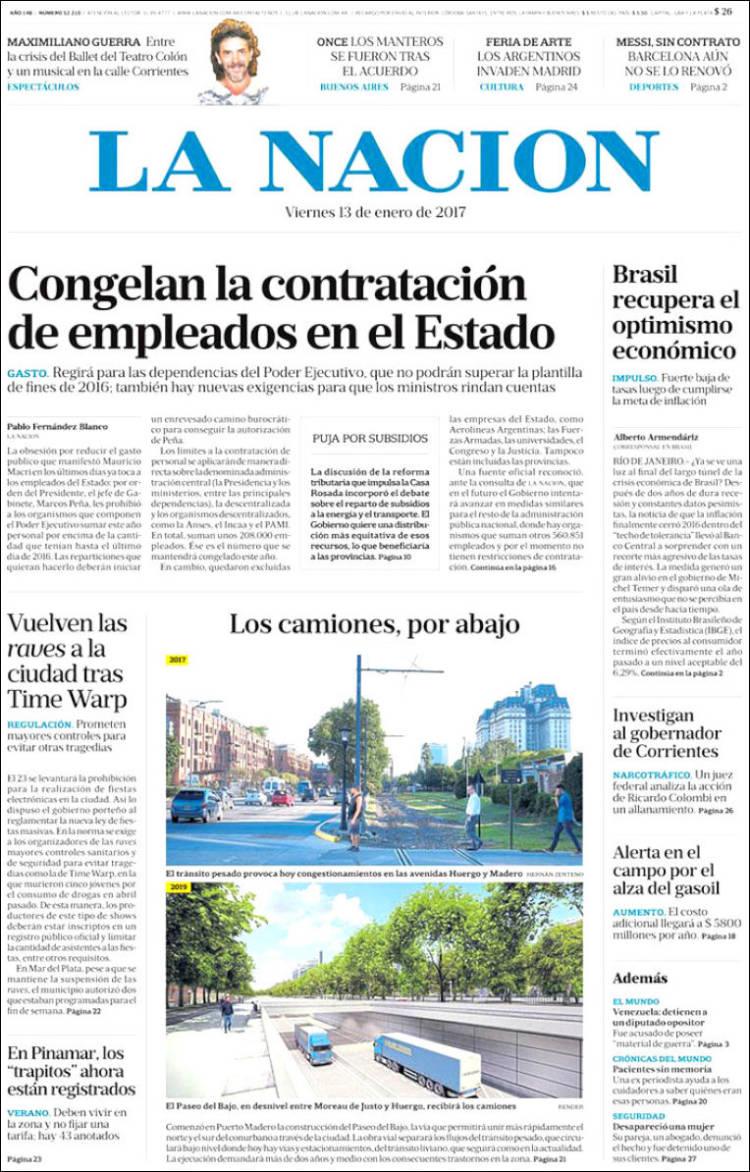 Periódico La Nación (Argentina). Periódicos de Argentina. Edición ...
