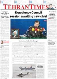 Portada de TehranTimes (Irán)