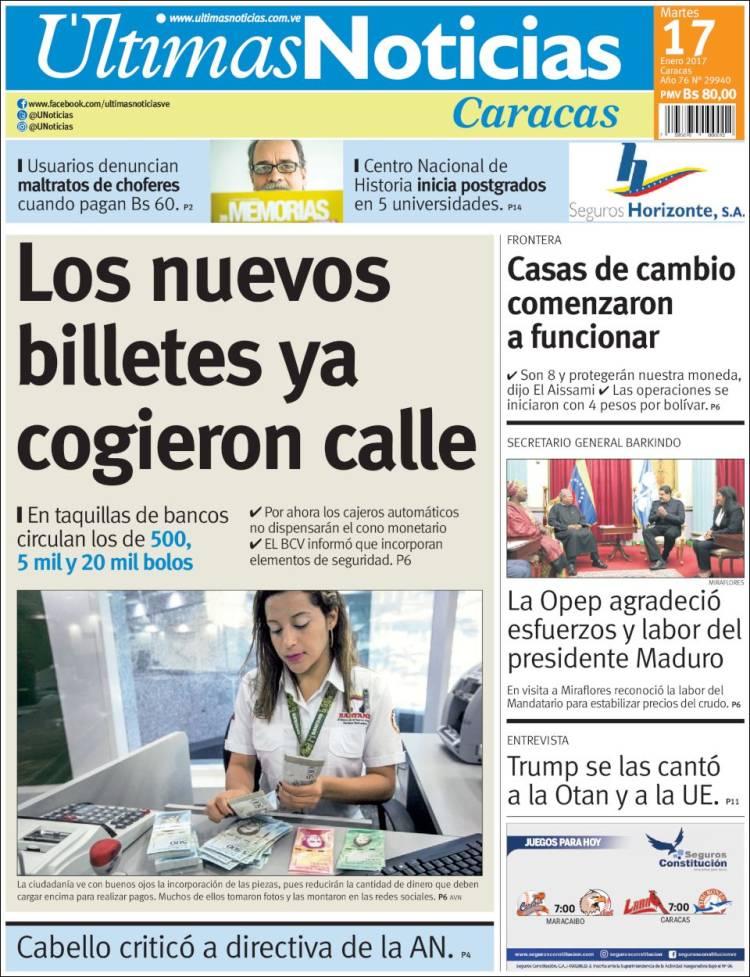 Peri dico ltimas noticias venezuela peri dicos de for Ultimas noticias del espectaculo internacional