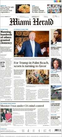 Portada de Miami Herald (USA)
