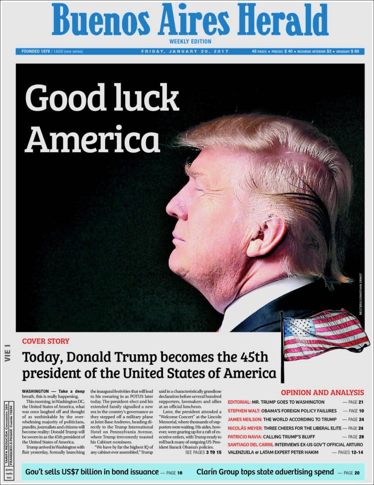 Portada de Buenos Aires Herald (Argentina)