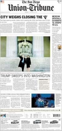 Portada de The San Diego Union-Tribune (USA)