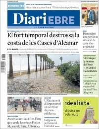 Portada de Diari Ebre (España)