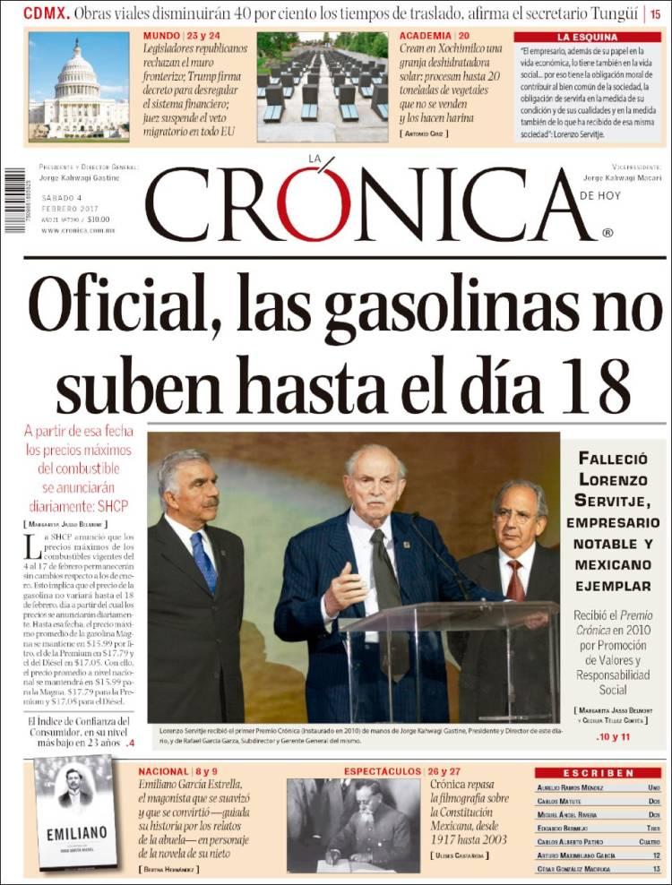 Peri dico la cr nica de hoy m xico peri dicos de m xico for Noticias del espectaculo mexicano recientes