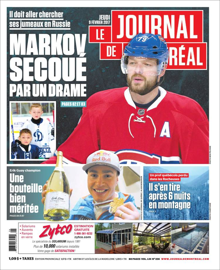 Periódico Le Journal de Montréal (Canadá). Periódicos de ...