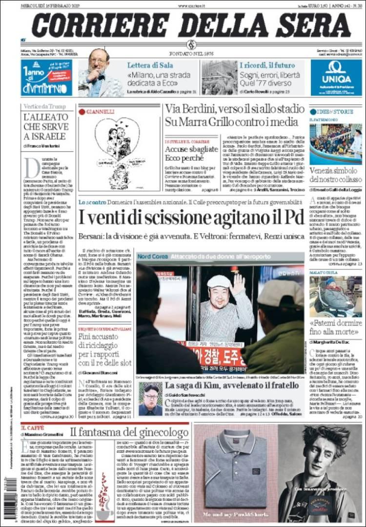 Corriere della sera news for Corriere della sera arredamento