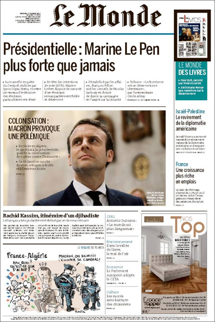 LE MONDE VERSION ON LINE