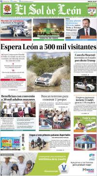Portada de El Sol de León (México)