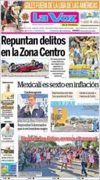 Portada de La Voz de la Frontera (Mexico)