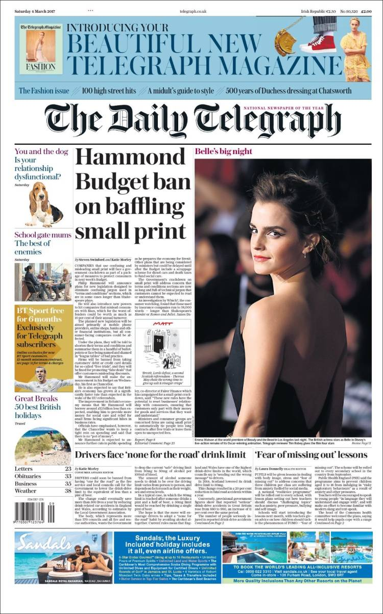 The daily telegraph fashion 84