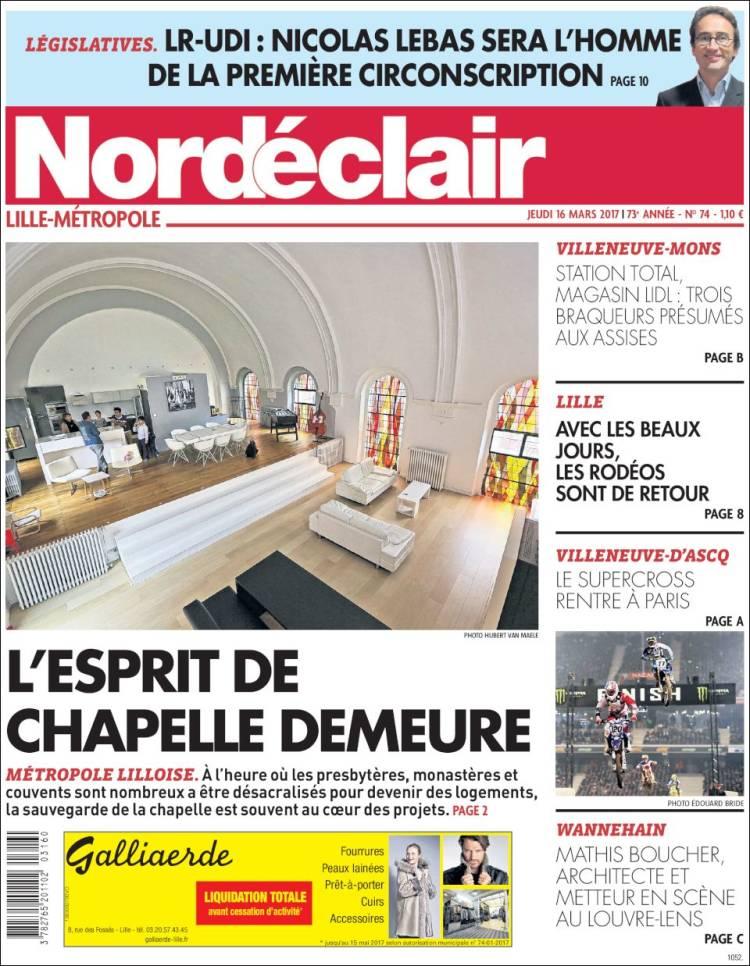 De Nord Journal Les france France Éclair Journaux Unes Des CwxP0H