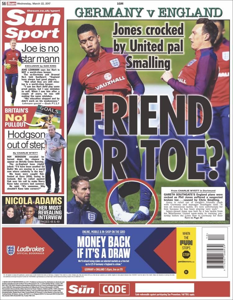 Portada de Sun Sport (Reino Unido)