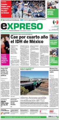 Portada de Expreso (México)