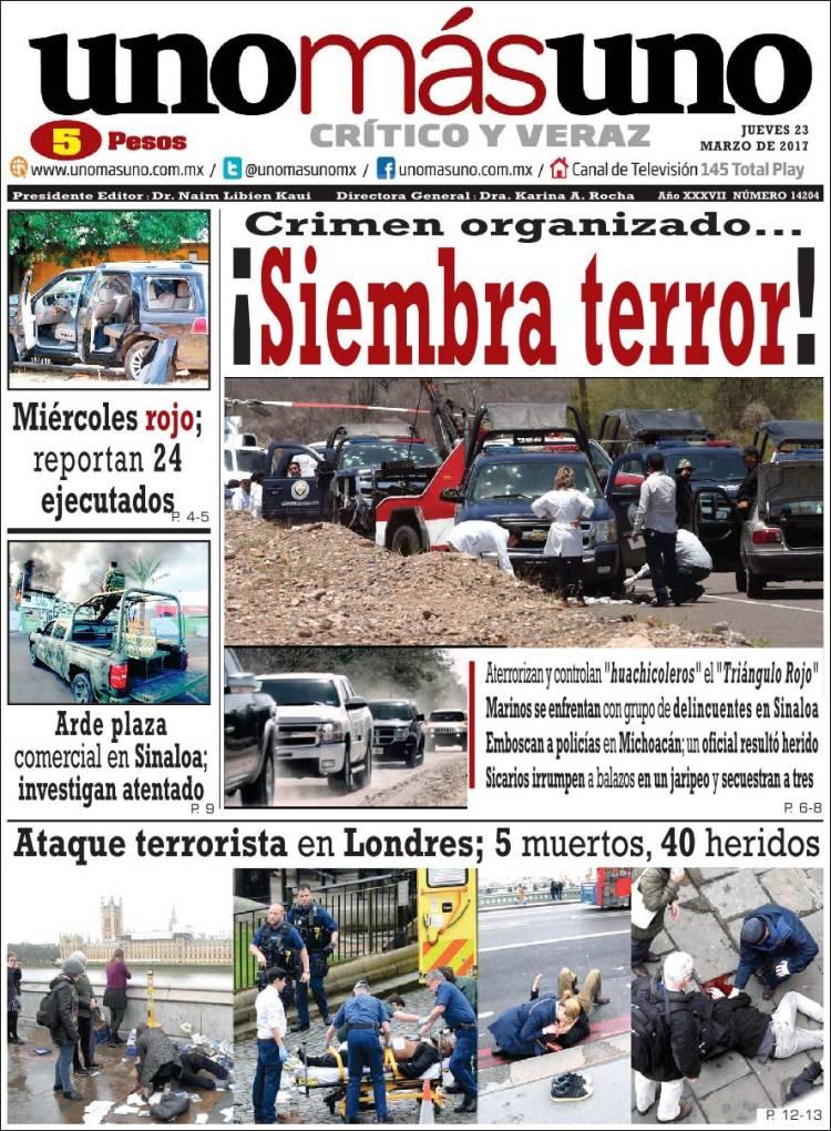 Portada de Uno Más Uno (México)