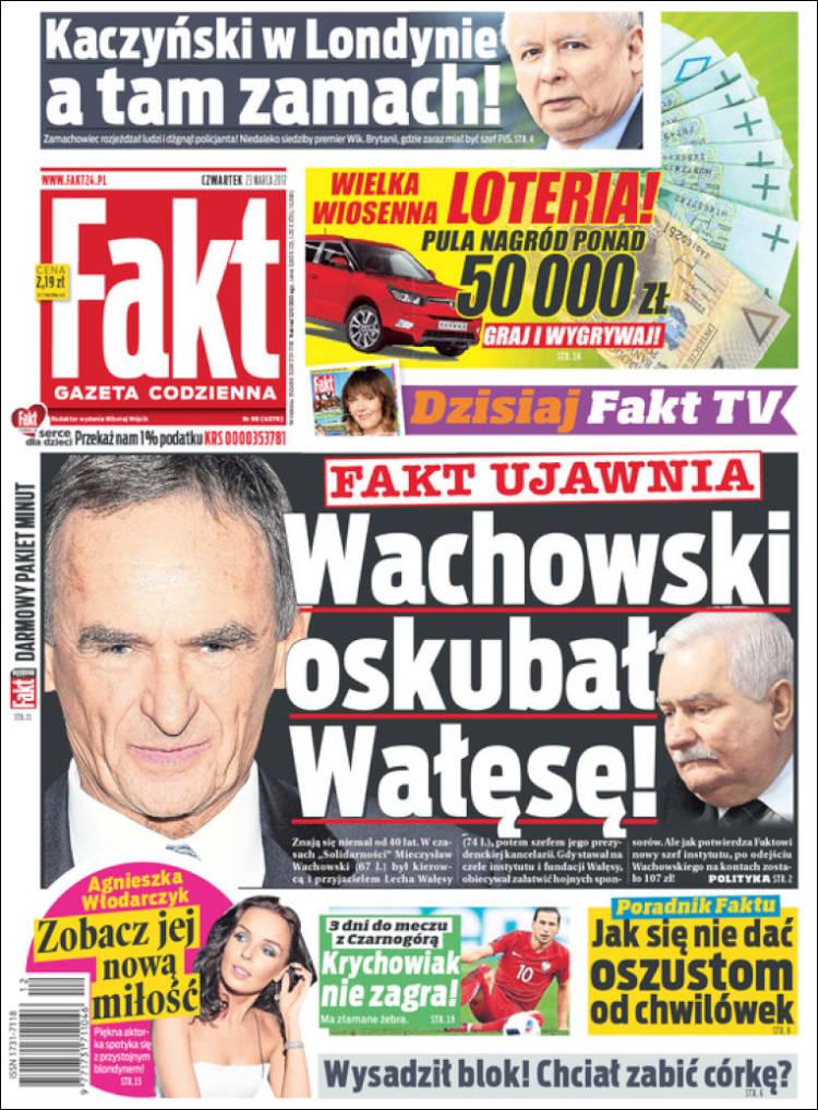 Portada de Fakt (Pologne)
