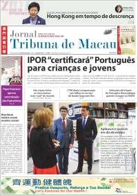 Portada de Jornal Tribuna de Macau (China)