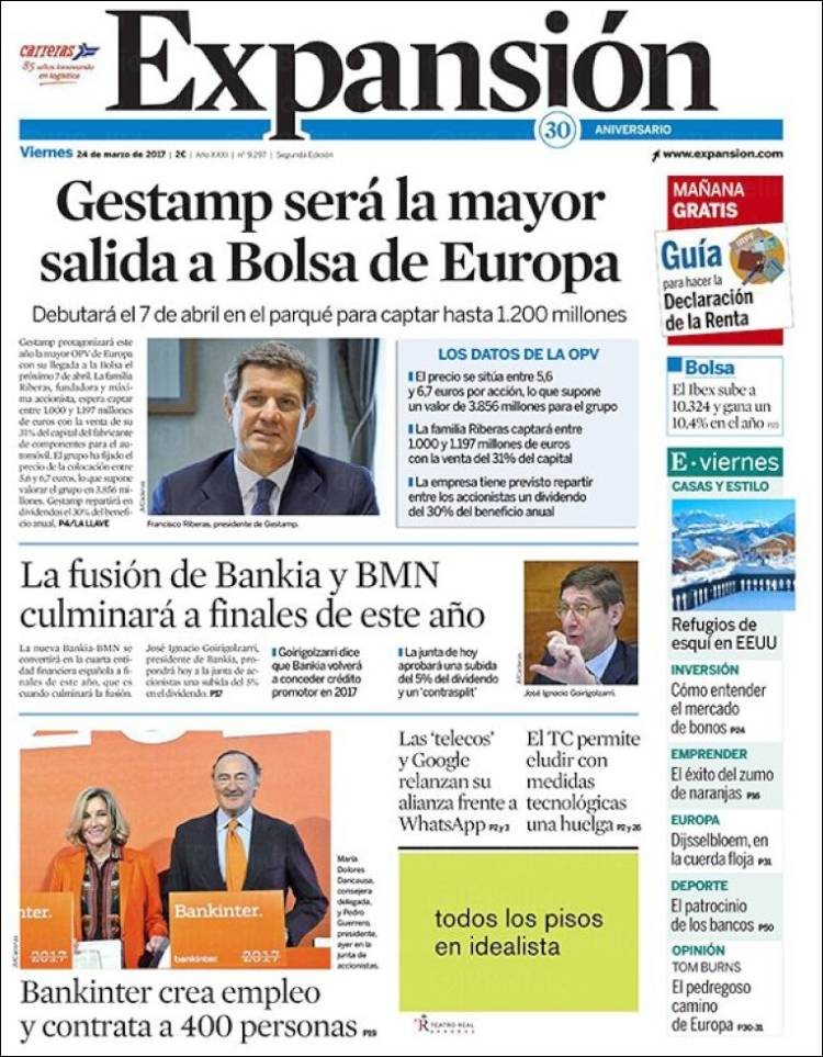 Portada de Expansión (Espagne)