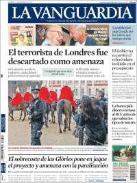 Portada de La Vanguardia (Espagne)