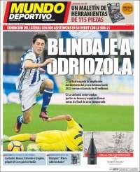 Portada de Mundo Deportivo Gipuzkoa (Espagne)