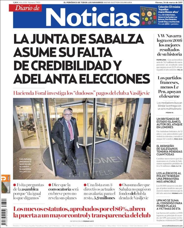 Peri Dico Noticias De Navarra Espa A Peri Dicos De