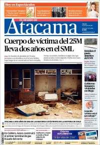 Portada de Diario de Atacama (Chili)
