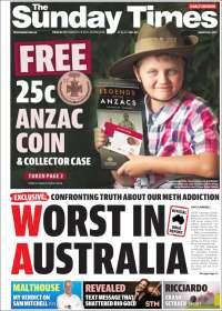 Portada de The West Australian (Australia)