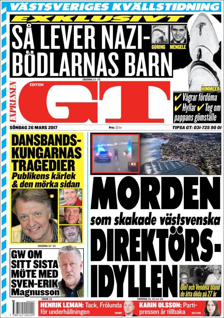 Portada de Göteborgstidningen (Sweden)
