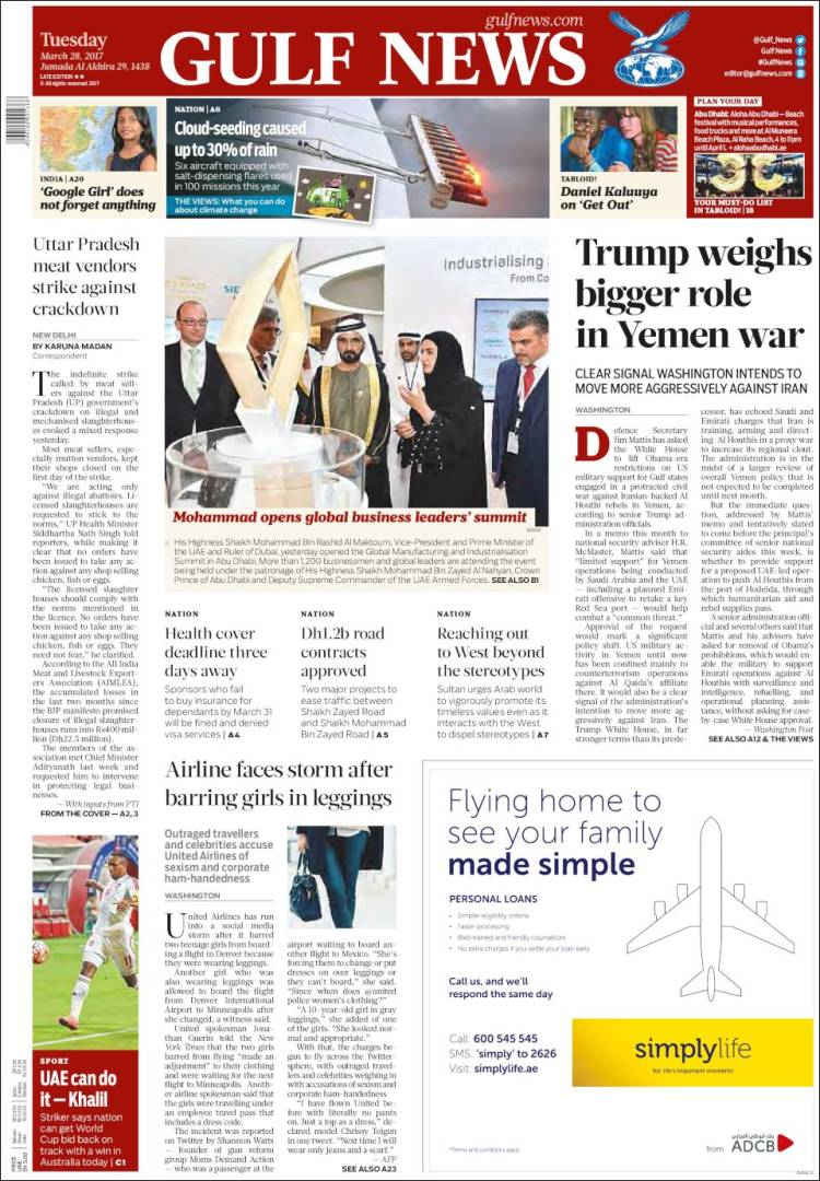 Portada de Gulf News (Asie-Pacifique)