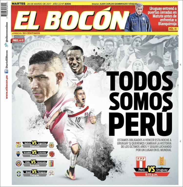 Periódico El Bocón Perú Periódicos De Perú Edición De Martes 28
