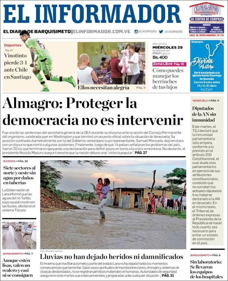 Portada De Los Diarios Nacionales E Internacionales Este