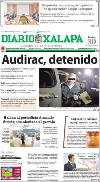 Portada de Diario de Xalapa (Mexique)