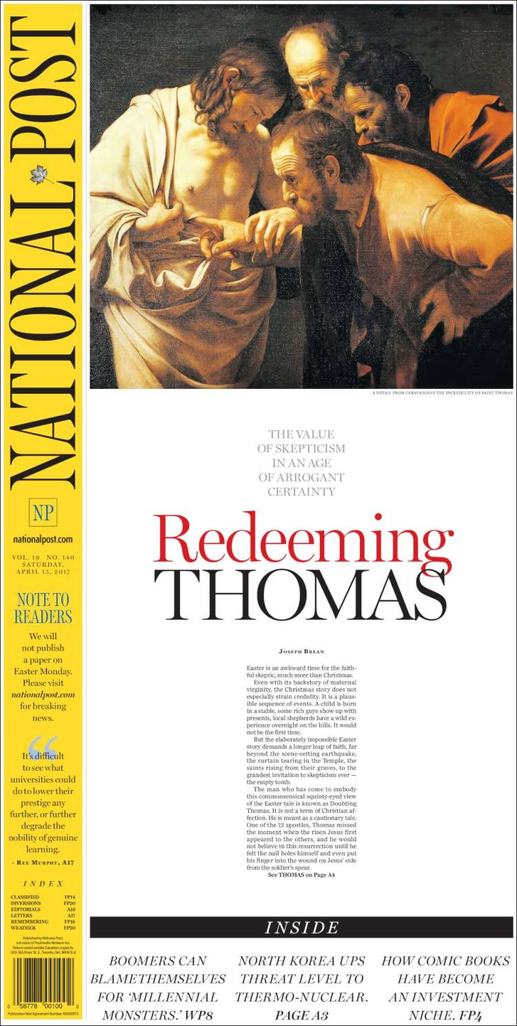 Newspaper The National Post (Canada). Newspapers in Canada ...