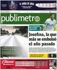 Portada de Publimetro (México)