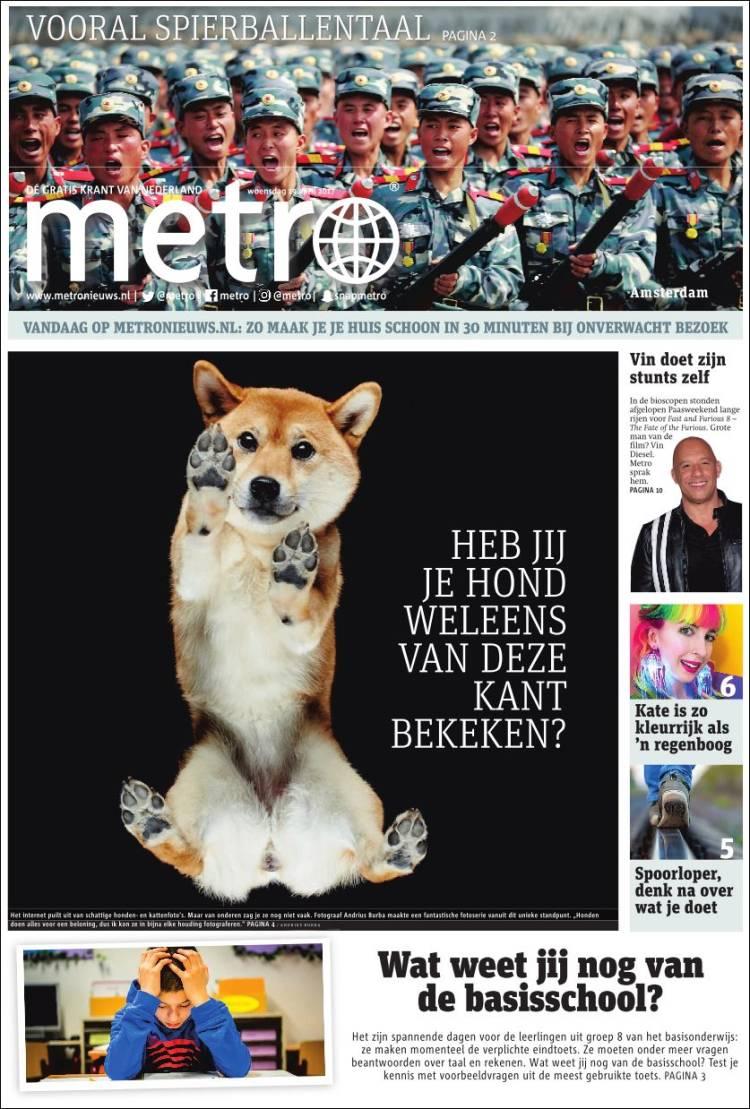 Portada de Metro (Pays-Bas)