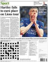 Portada de The Times Sport (Royaume-Uni)