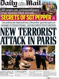 Portada de Daily Mail (Royaume-Uni)