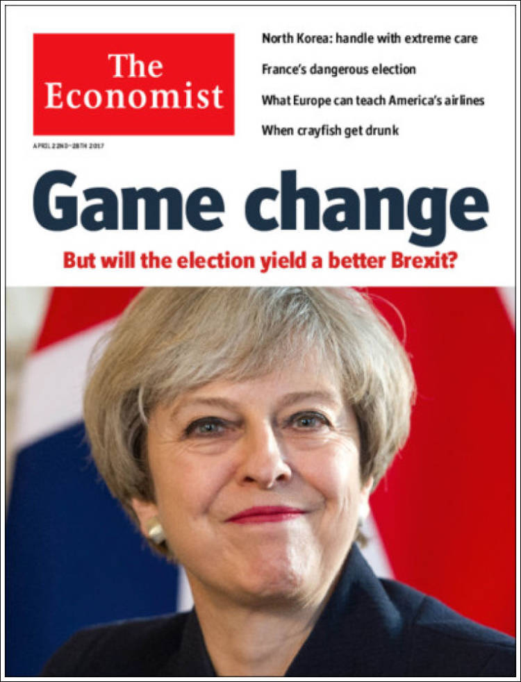 Portada de The Economist (Reino Unido)