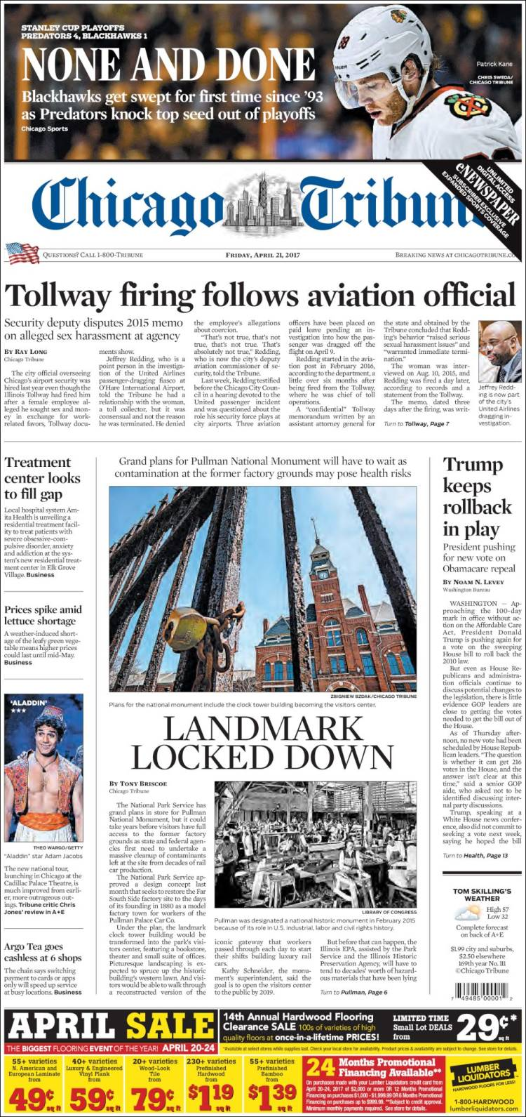 Newspaper Chicago Tribune USA Newspapers In USA Fridays - Top newspapers in usa