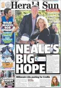 Portada de Herald Sun (Australie)