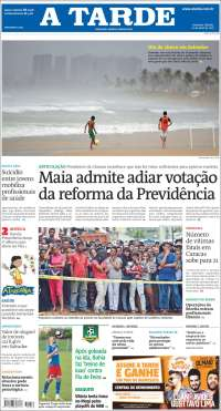 Portada de Diário A Tarde (Brésil)