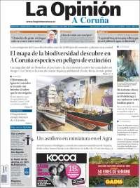 Portada de La Opinión de A Coruña (Espagne)