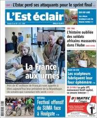 Portada de L'Est Eclair (France)