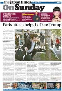 Portada de The Japan Times (Japon)