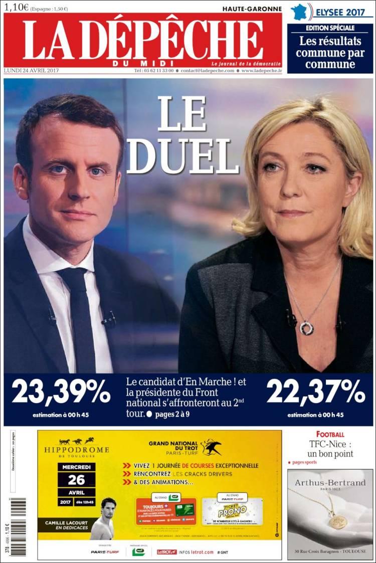 la depeche french presidential election 2017 macron le pen