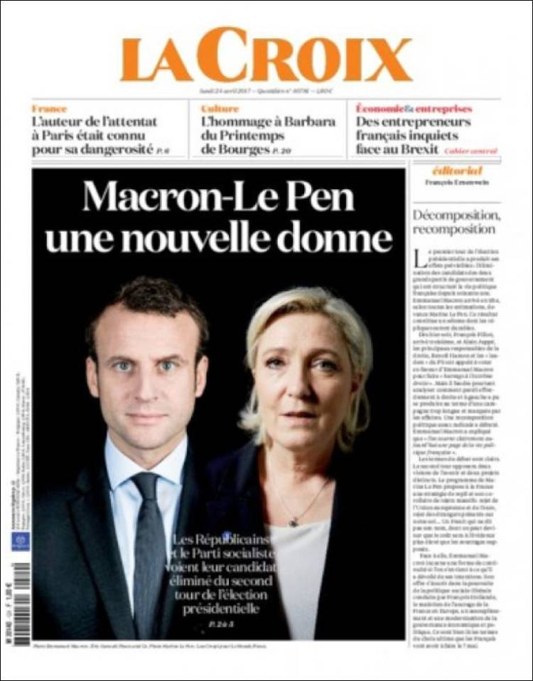 la croix french presidential election 2017 macron le pen