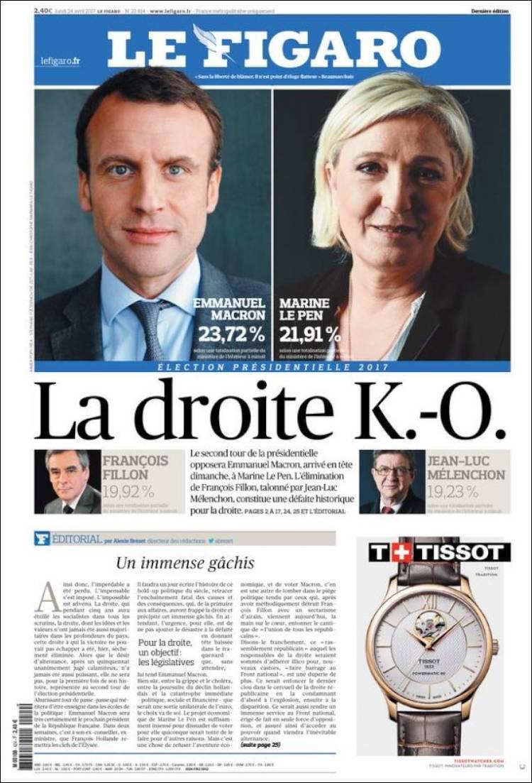 le figaro le pen macron french election 2017