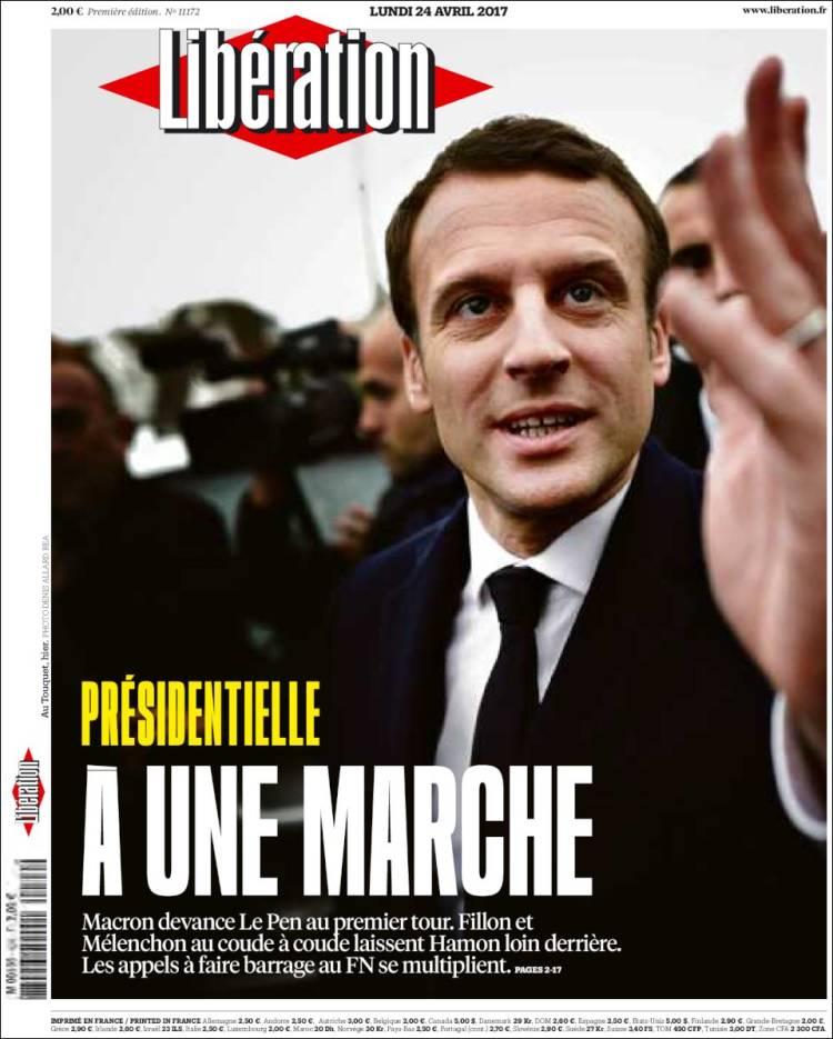 liberation french presidential election 2017 macron le pen