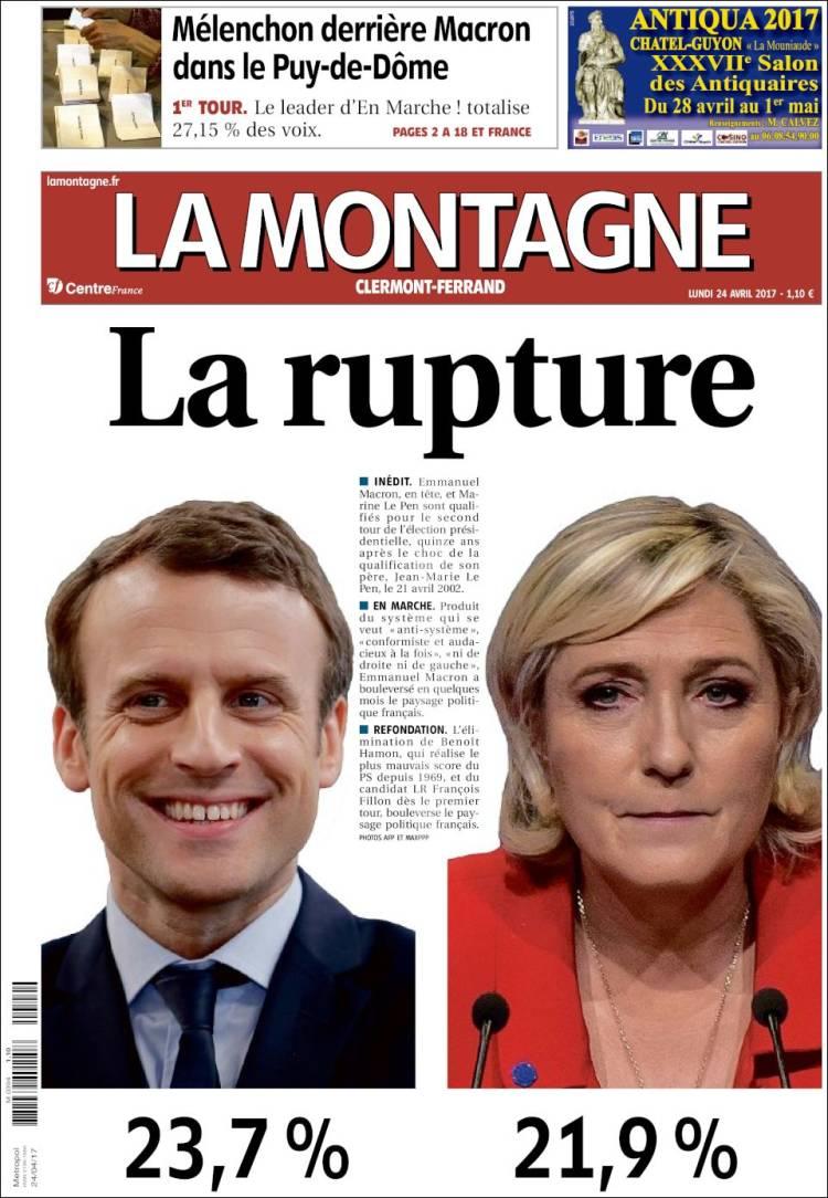 La montagne french presidential election 2017 macron le pen